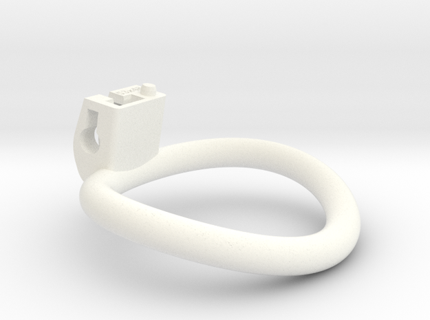 Cherry Keeper Ring - 53x48mm Wide Oval (~50.5mm) in White Processed Versatile Plastic