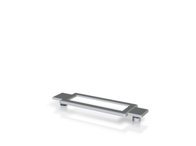 Name Plate 0005 - insert (plugs) in White Natural Versatile Plastic