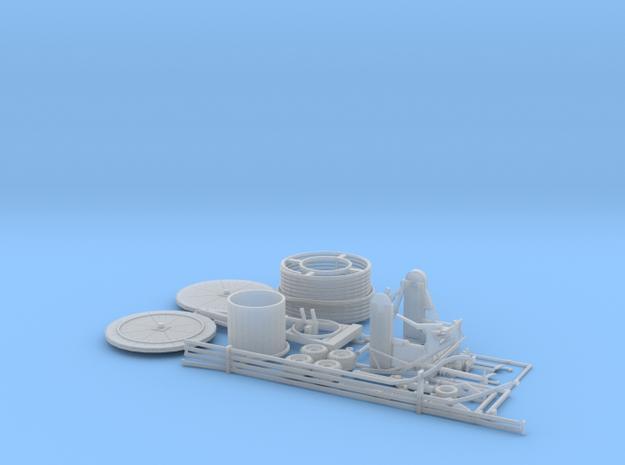 1:64 Hose reel irrigation system kit in Smooth Fine Detail Plastic
