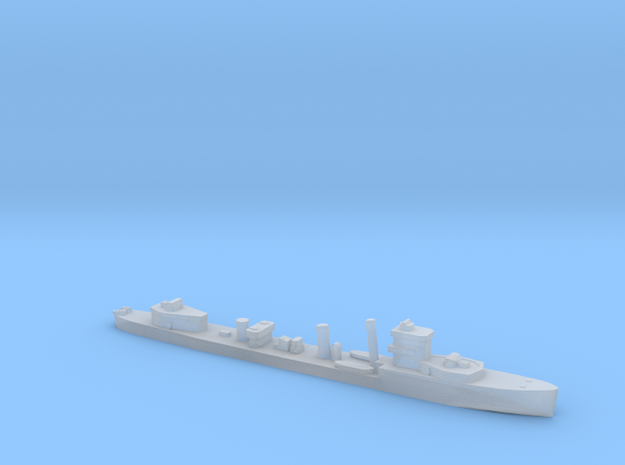 HMS Vega 1:1800 WW2 naval destroyer in Smoothest Fine Detail Plastic