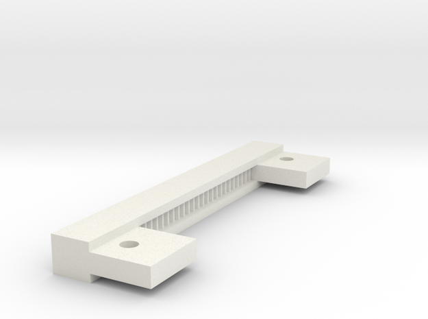 08.01.06.01.01 Rack 19 Teeth in White Natural Versatile Plastic
