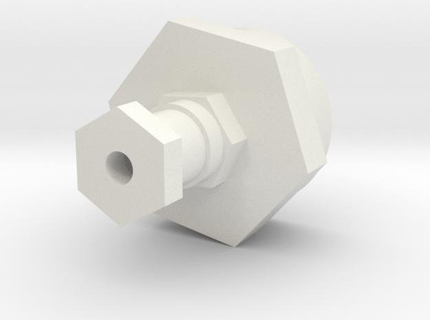 08.02.07.01.05 Cylinder Bottom in White Natural Versatile Plastic