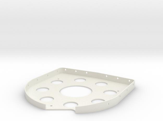 08.03.04.01.07 Compass Brkt Base in White Natural Versatile Plastic