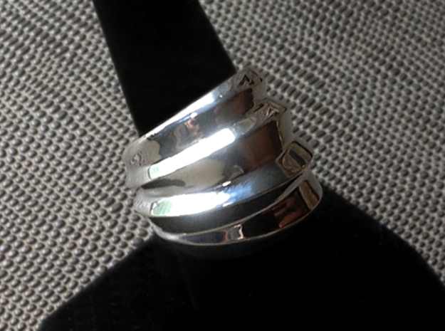 Twisted Ring - Size 9 (18.95 mm) in Polished Silver