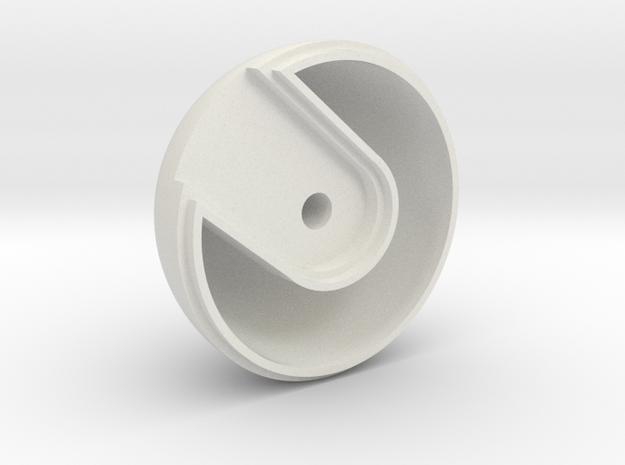 08.02.01.07 Ball Knob Stbd in White Natural Versatile Plastic