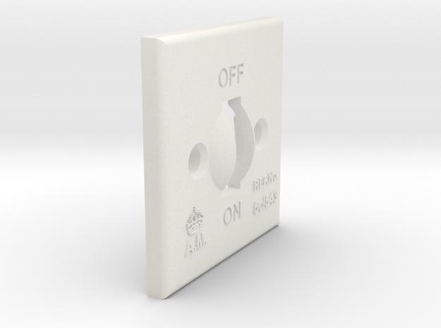 08.02.09.02.01 Switch Cover (2) in White Natural Versatile Plastic