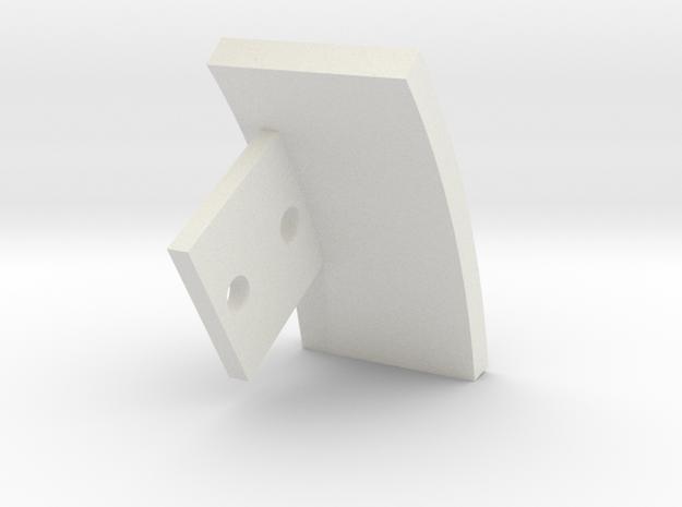 08.02.10.08.04 Indicator Plate in White Natural Versatile Plastic