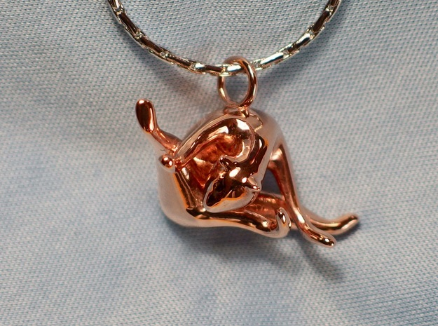 cat_007 in 14k Rose Gold Plated Brass