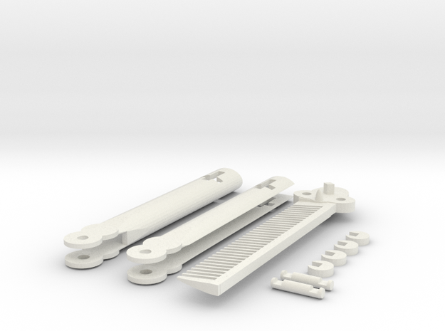 Butterfly Knife Comb in White Natural Versatile Plastic