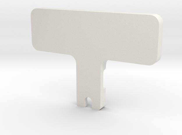 Awesomatix Castor Gauge in White Natural Versatile Plastic
