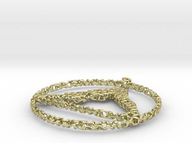 voronoi yoga pendant fewer holes in 18k Gold Plated Brass