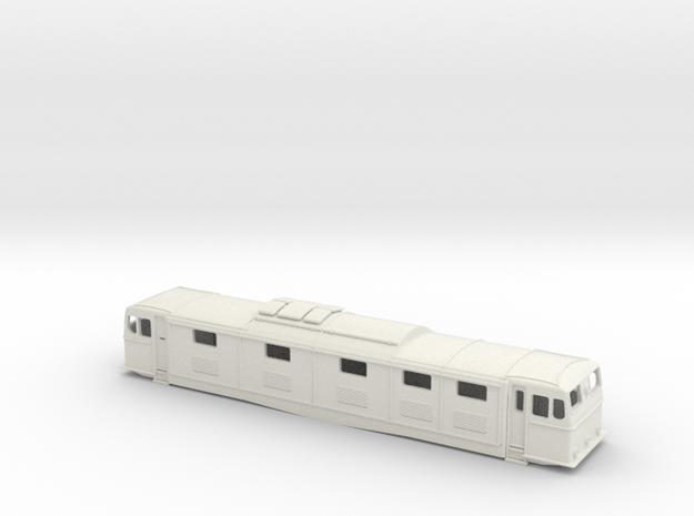 EM1 0 Gauge Bodyshell in White Natural Versatile Plastic