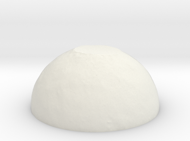 Snow Cap Planet in White Natural Versatile Plastic