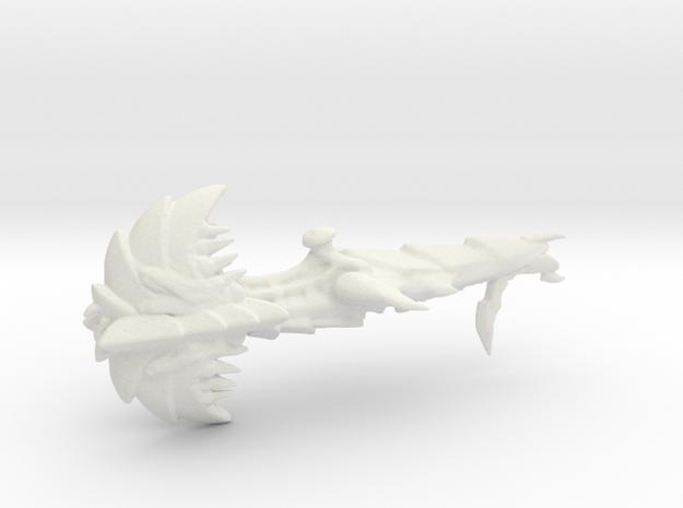 Hive Spore Cruiser - Concept C in White Natural Versatile Plastic