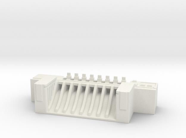 Dam - terrain piece in White Natural Versatile Plastic