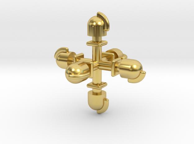 Dampflok Glocke (6x 1,6) in Polished Brass