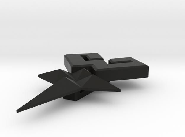 Mark of Mastery Belt Loop in Black Natural Versatile Plastic: Small