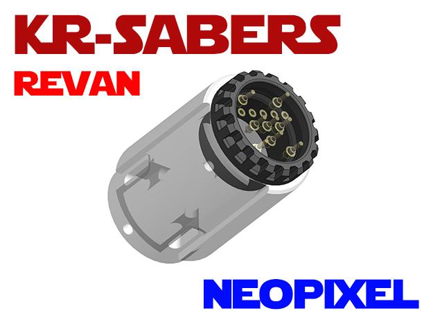 KRxOR - Revan Neopixel Adapter in White Natural Versatile Plastic