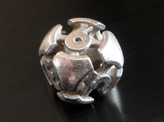 Chord d6 in Polished Bronzed-Silver Steel
