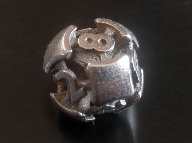 Chord d8 in Polished Bronzed-Silver Steel