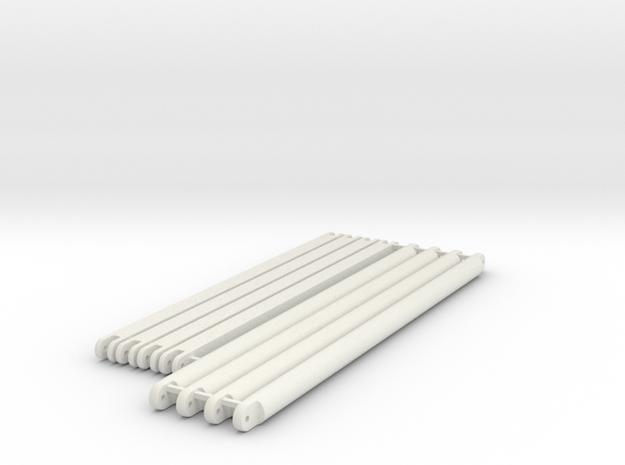 diagonal_beams_top_section in White Natural Versatile Plastic