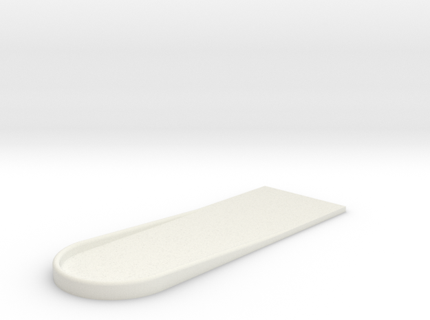 UH-1 Foot Rest 1/6 in White Natural Versatile Plastic