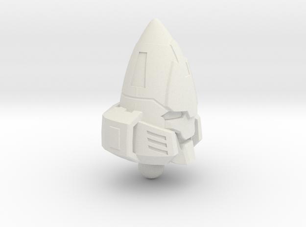 Zombie Combiner Gestalt Head - 1pc 6mm ball joint in White Natural Versatile Plastic