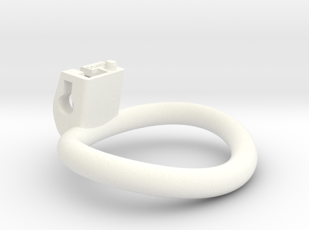 Cherry Keeper Ring - 51x42mm Wide Oval (~46.6mm) in White Processed Versatile Plastic