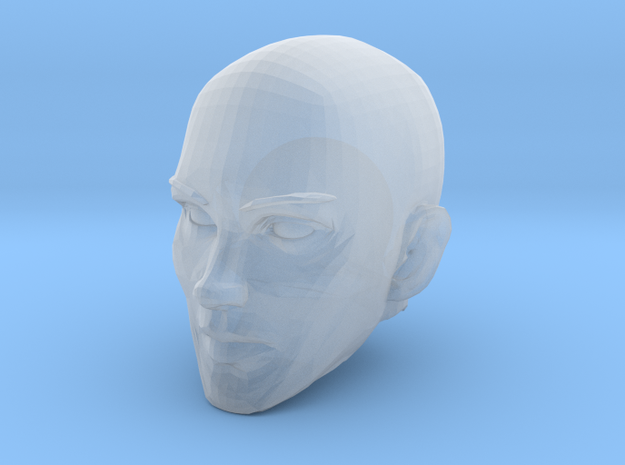 Female Head Bald in Smooth Fine Detail Plastic