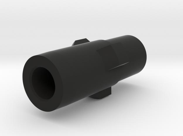 MP5 airsoft 3-Lug Adapter in Black Natural Versatile Plastic