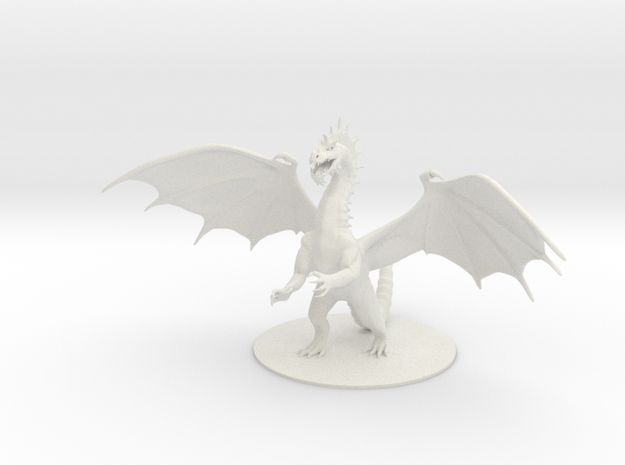 Colossal Green Dragon in White Natural Versatile Plastic