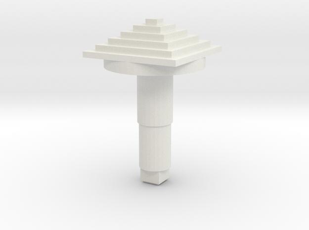 STEM_4WAY_COOLIE_6_PYRAMID in White Natural Versatile Plastic