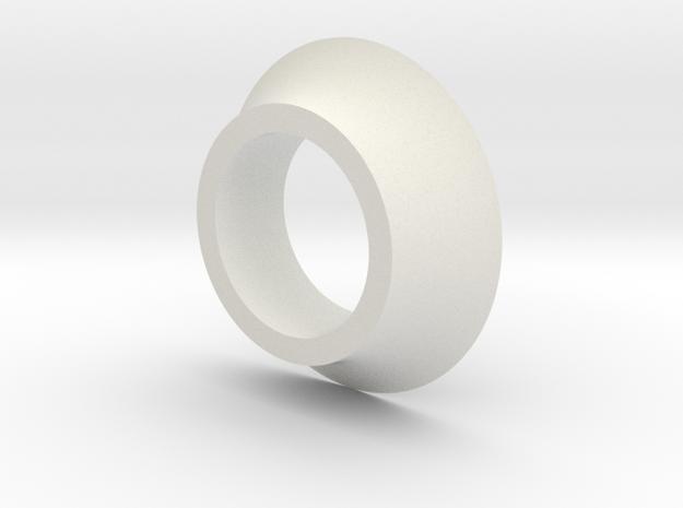 Crank Spacer in White Natural Versatile Plastic