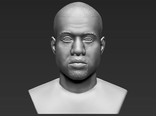 Kanye West bust in White Natural Versatile Plastic