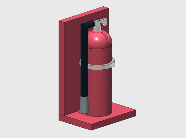 Fire Extinguishers (HO) in Smooth Fine Detail Plastic: 1:87 - HO