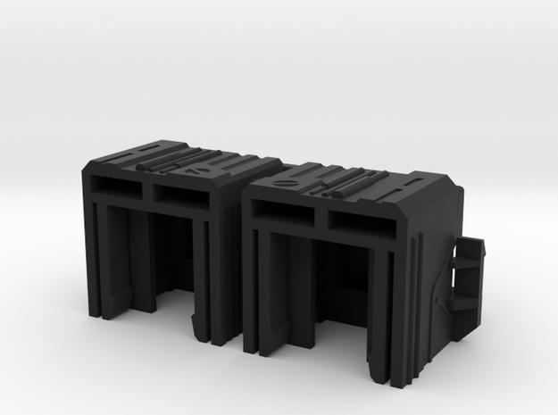 NARROW Leg Extenders for Transformmission Havoc in Black Natural Versatile Plastic