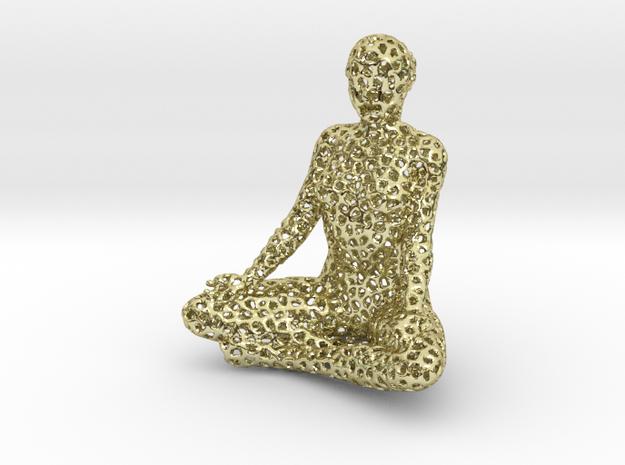 voronoi meditation in 18k Gold Plated Brass