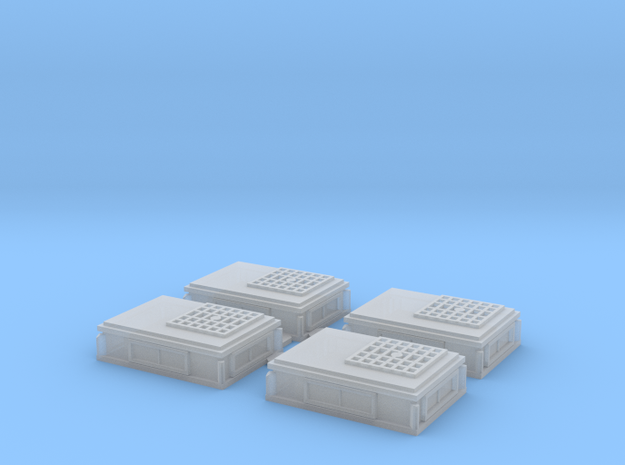Rooftop-Mounted Air Conditioner Units (N scale) in Smoothest Fine Detail Plastic