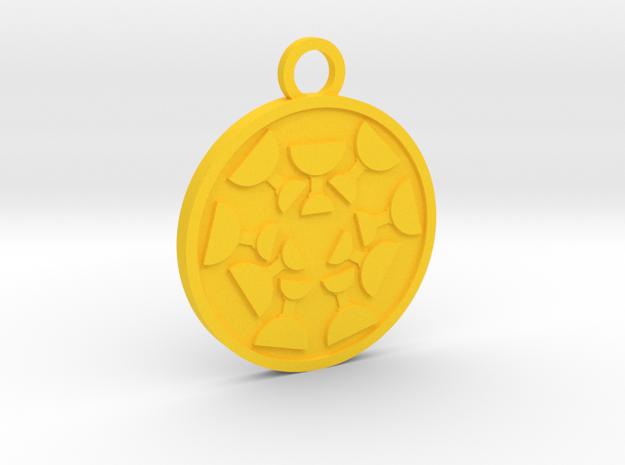 Nine of Cups in Yellow Processed Versatile Plastic