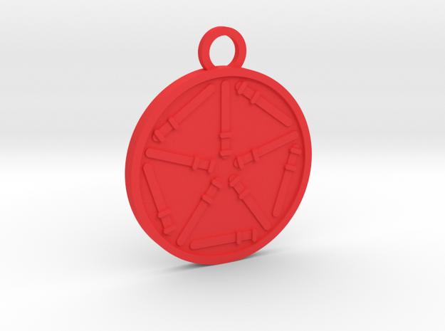 Ten of Wands in Red Processed Versatile Plastic