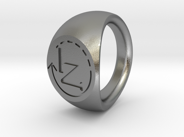 NT ring 19mm in Natural Silver