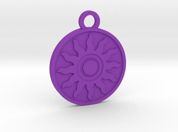 The Sun in Purple Processed Versatile Plastic