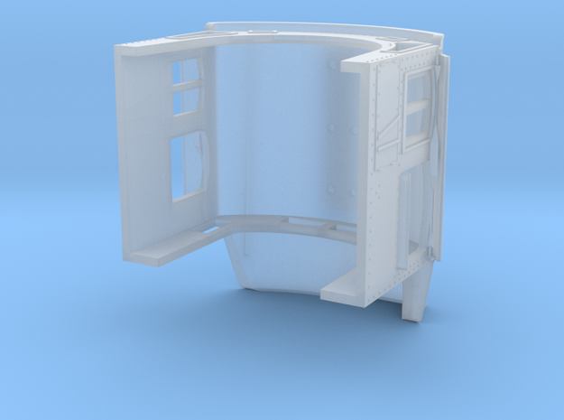 N ATSF Extended tapered cab with access in Smooth Fine Detail Plastic