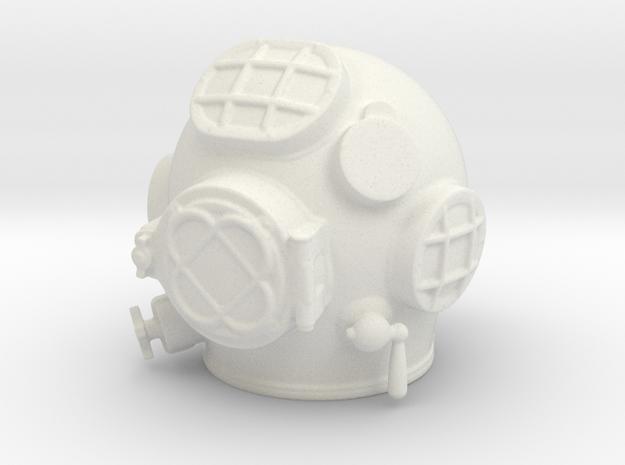 Diving helmet 1/6th scale in White Natural Versatile Plastic