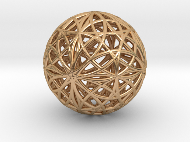 Evolution Cube 4D and 3D in Polished Bronze