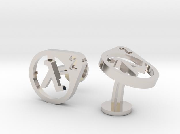 Half Life 2 Cufflinks in Rhodium Plated Brass