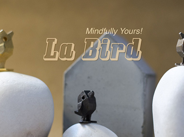 LaBird 22MM - Desktop Stacking Toy and Jewelry Des in Stainless Steel