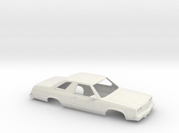1/25 1978-83 Ford Fairmont Futura Shell in White Natural Versatile Plastic