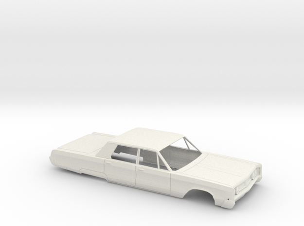 1/18 1967 Chrysler-Newport Sedan Shell in White Natural Versatile Plastic