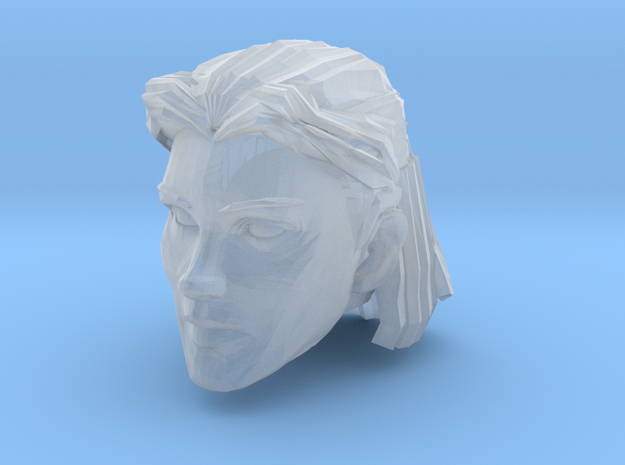 Female Head 1 in Smooth Fine Detail Plastic
